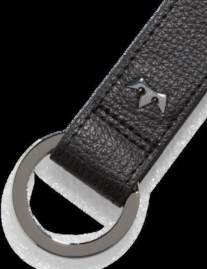 Award Loop Key Ring – Italian Leather Black