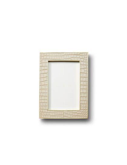 Arn Classic Croc Leather Frame Fawn - 4 X 6