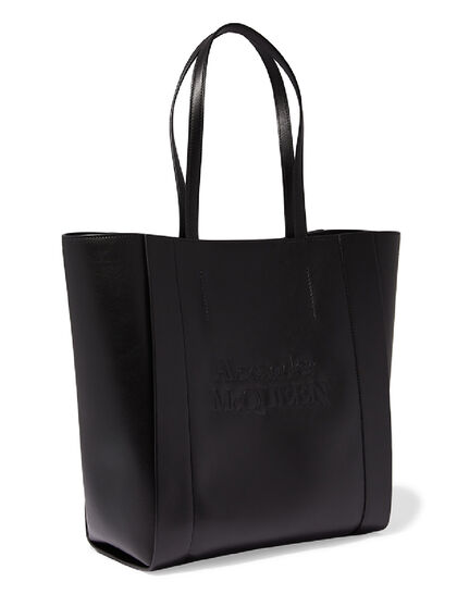 Logo Leather Tote Bag