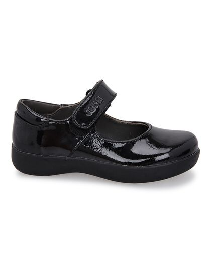 Glossy Mary Jane Leather Shoes