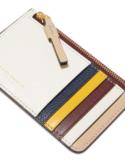 Perry Color-Block Zipped Card Case