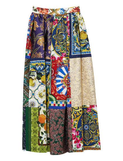Patchwork Jacquard Maxi Skirt
