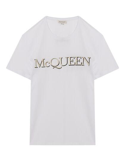 Embroidered Mcqueen Logo Tshirt