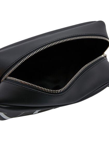 Leather Wash Bag - Black