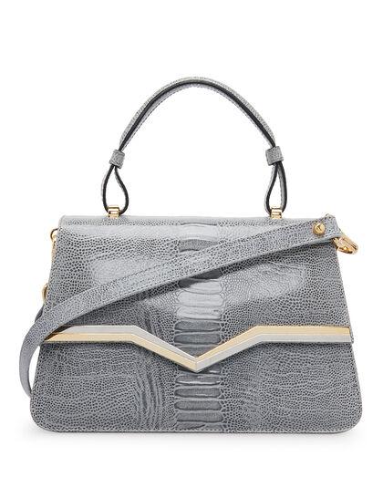 Freya - Ostrich Top Handle Bag