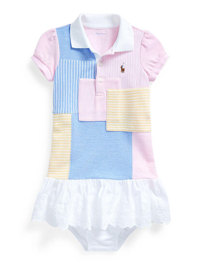 Patchwork Polo Dress