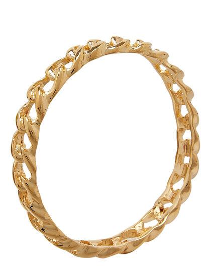 Links Bracelets Polished Gold Link Bangle