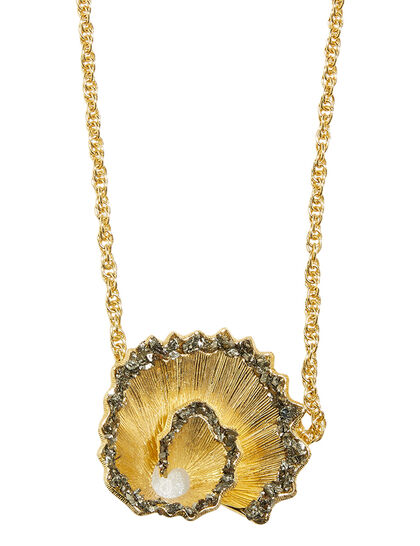 Fool'S Gold Statement Medallion Necklace