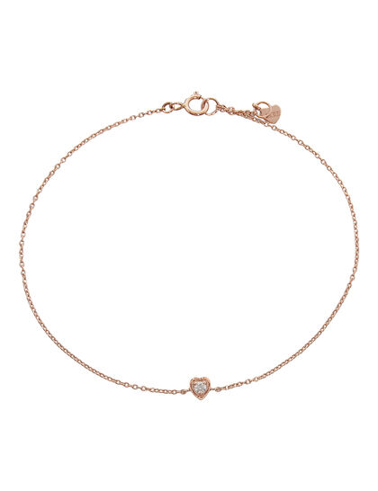 Mini Heart Rose Bracelet