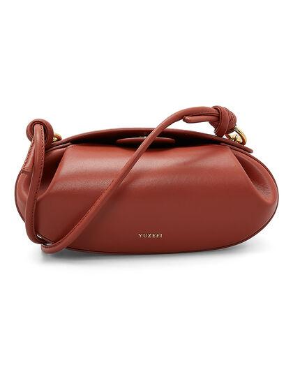 Dinner Roll Leather Bag