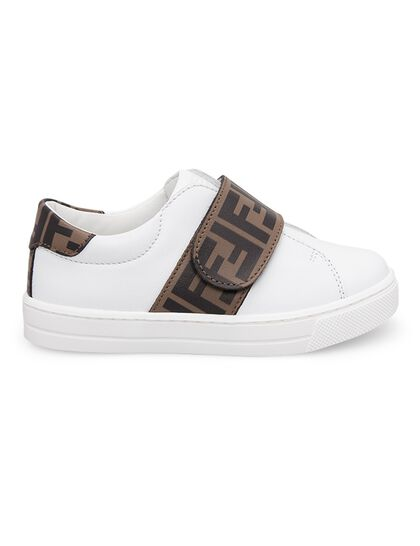 Logo Strap Leather Sneakers