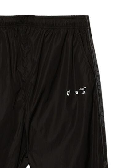Logo Stripe Trackpant Black White