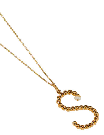 S-Letter Gold Necklace