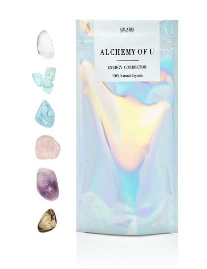 Alchemy of U (6 pcs crystal facial chakra grid) + 2 facials
