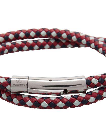 Matteo Double Tour Bracelet - Blue / White / Red