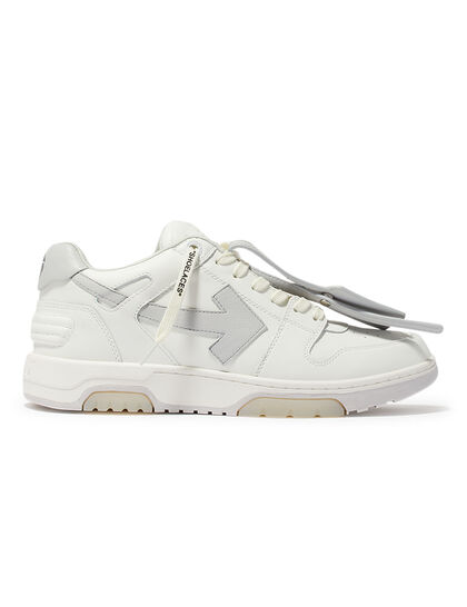 Out Of Office Calf Leather White Grey