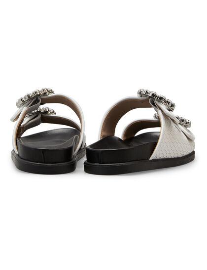 Embellished Buckle Sandals