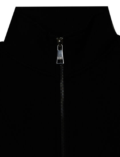 Logo Tape Zip-Up Sweatshirt