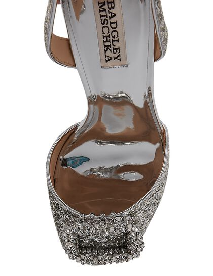 Ozara Glitter Sandals With Buckle