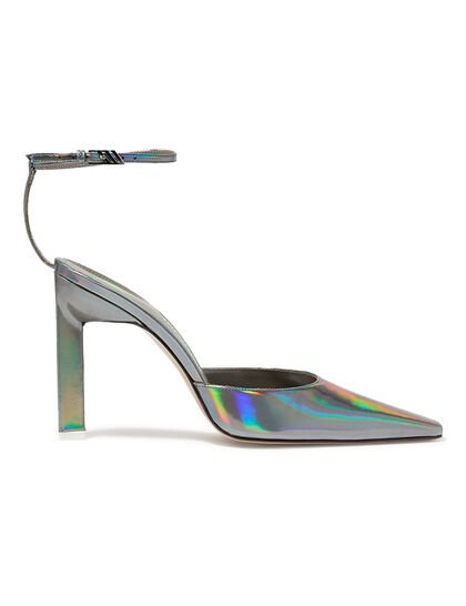 Iridescent Leather Slingbacks