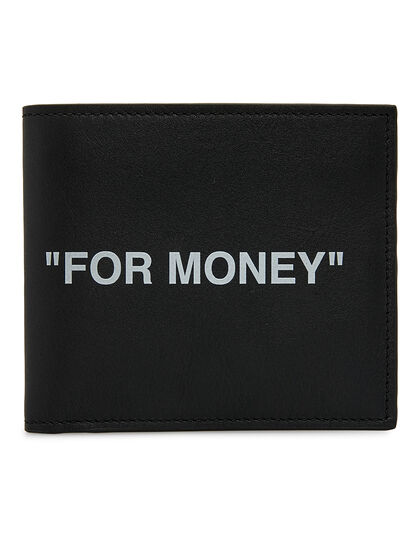 Quote Bi-fold Wallet - Black