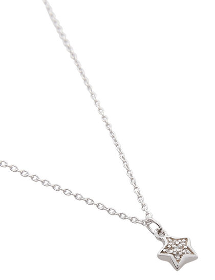 Chain And Pave Set Star Pendant (Kiddie)