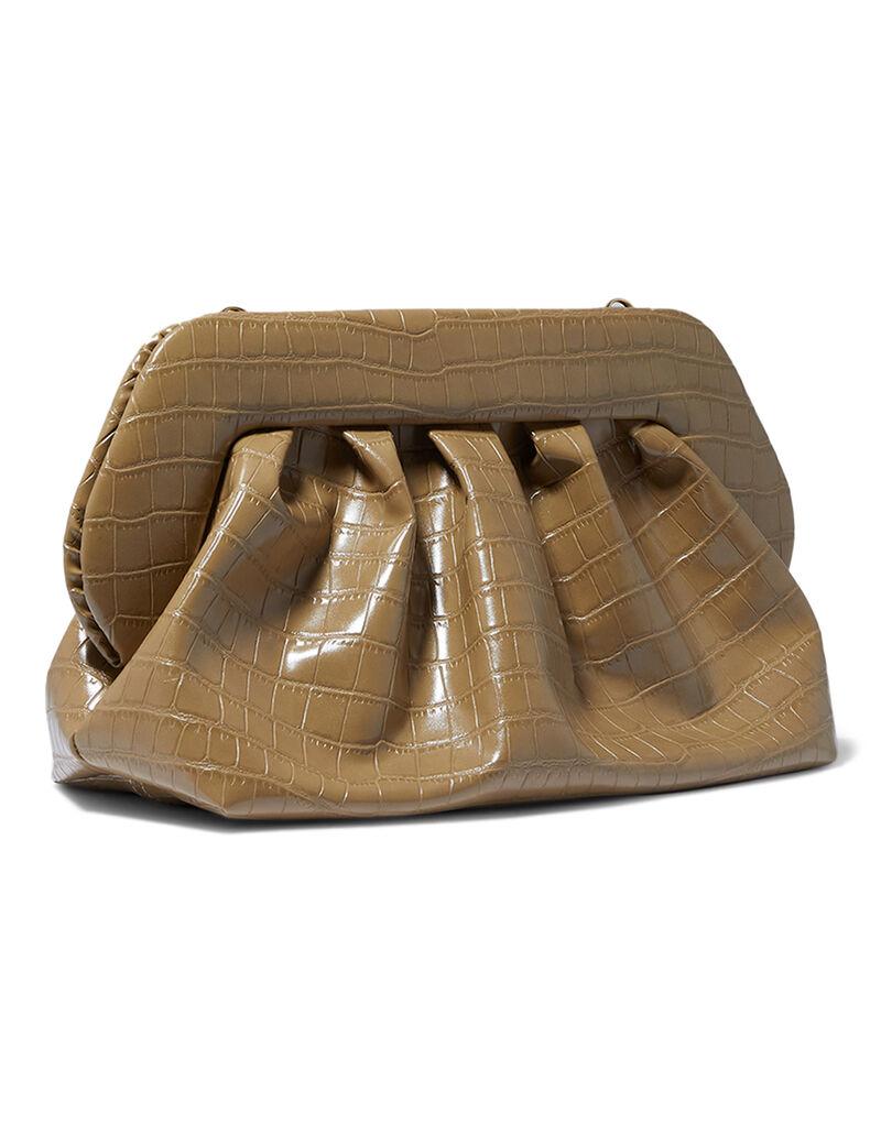 Bios Croc-Embossed Clutch Bag