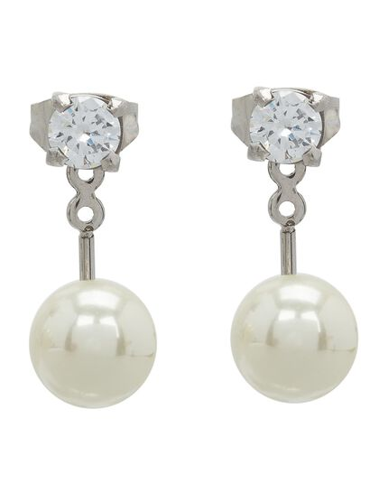 Piercing Earrings Round Cz And