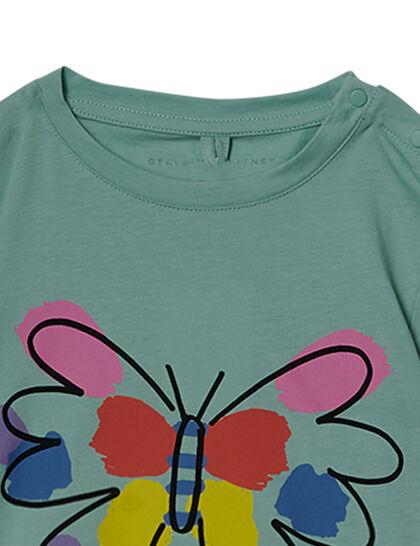 Ss Tee W/Paint Butterfly Pr