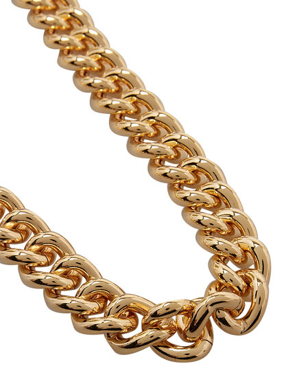 Kjy 18 Polished Gold Chain Necklace W/ S Hook Clasp