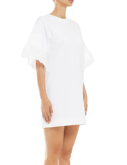 Scalloped Sleeve T-shirt Dress