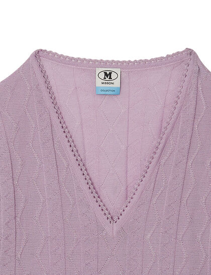 Knitted V-neck Blouse