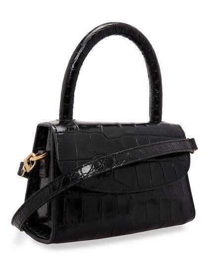 Mini Croco-Embossed Leather Bag