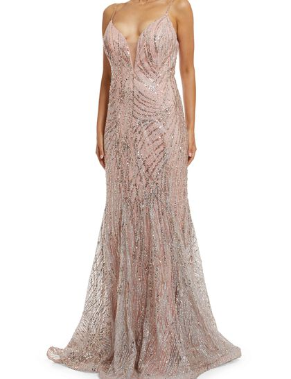 Sequined Embellished Gown