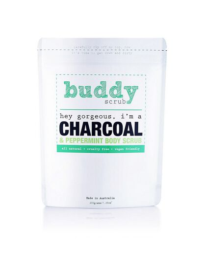 Activated Charcoal & Peppermint  Natural Body Scrub 200gm