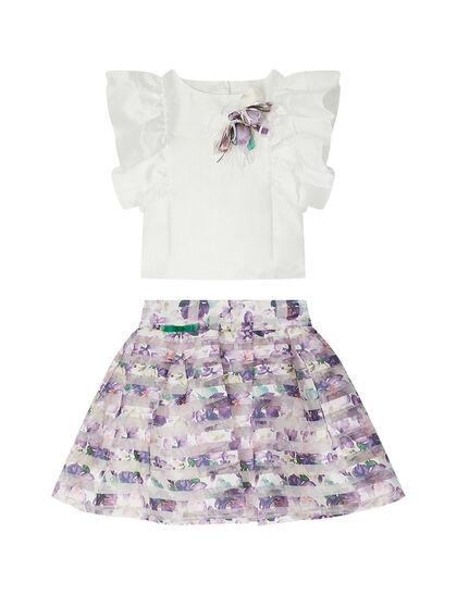 Ruffle Top & Skirt