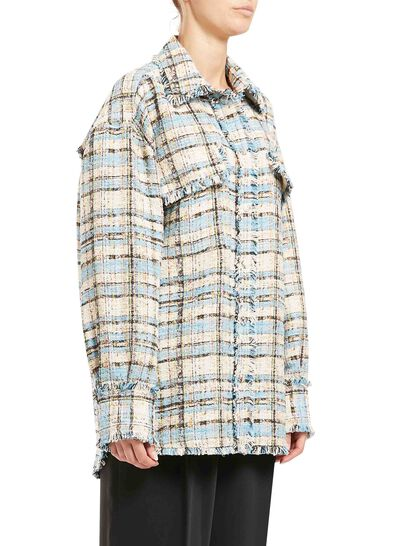Tweed Buttoned Shirt Jacket