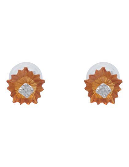 Earring Diamond - Citrine With Diamond Earring 1 0.53