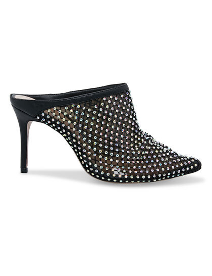 Mule Tela Crystal Glam Black