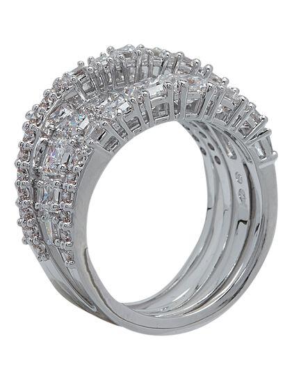 Sjc Twist Ring Wrap Czwh/Rhs Full Pave 55 Mm