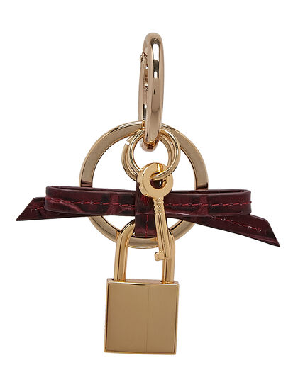 Bow Keyring With Padlock