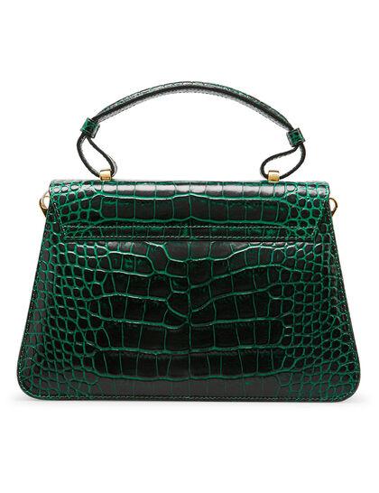 Freya Croc-Embossed Top Handle Bag