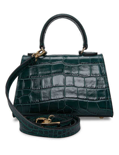 Fonteyn Mignon Croc, Top Handle Handbag With Shoulder Strap And Logo Lock