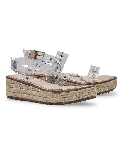 Cristiane Vinyl & Leather Sandals
