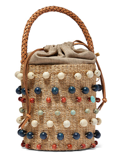 Multi-Beaded Bucket Bag