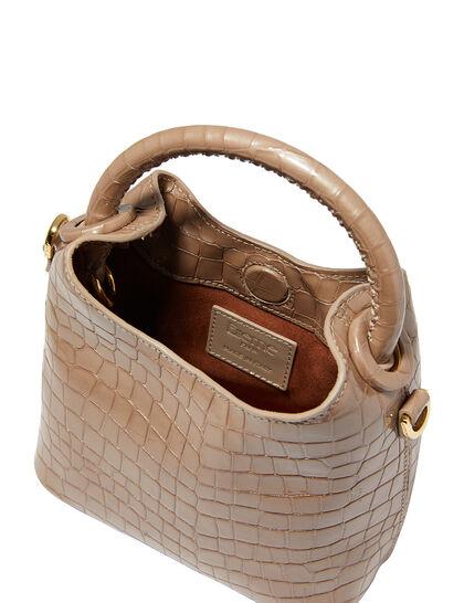 Madeleine Croc-Embossed Leather Shoulder Bag