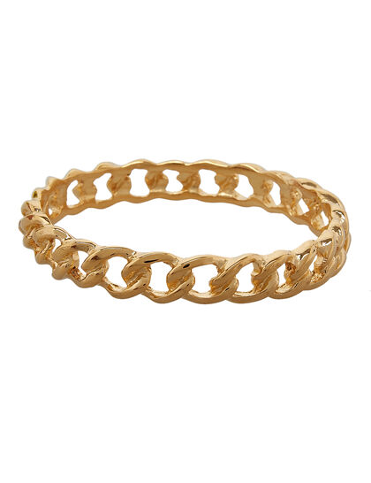 Links Bracelets Polished Gold Link Bangle