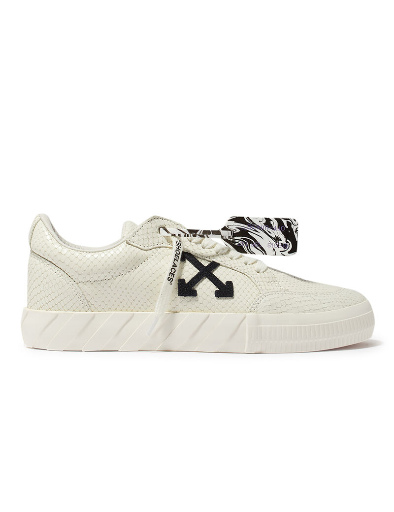 Low Vulcanized Calf Leather White Black