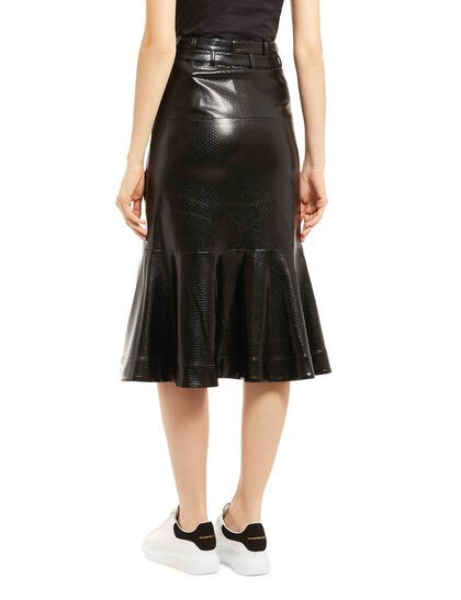 Leuca Faux Leather Skirt