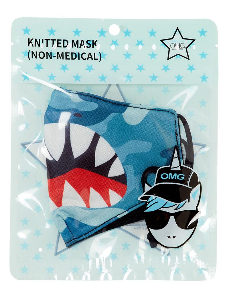 Shark Face Camo Face Mask